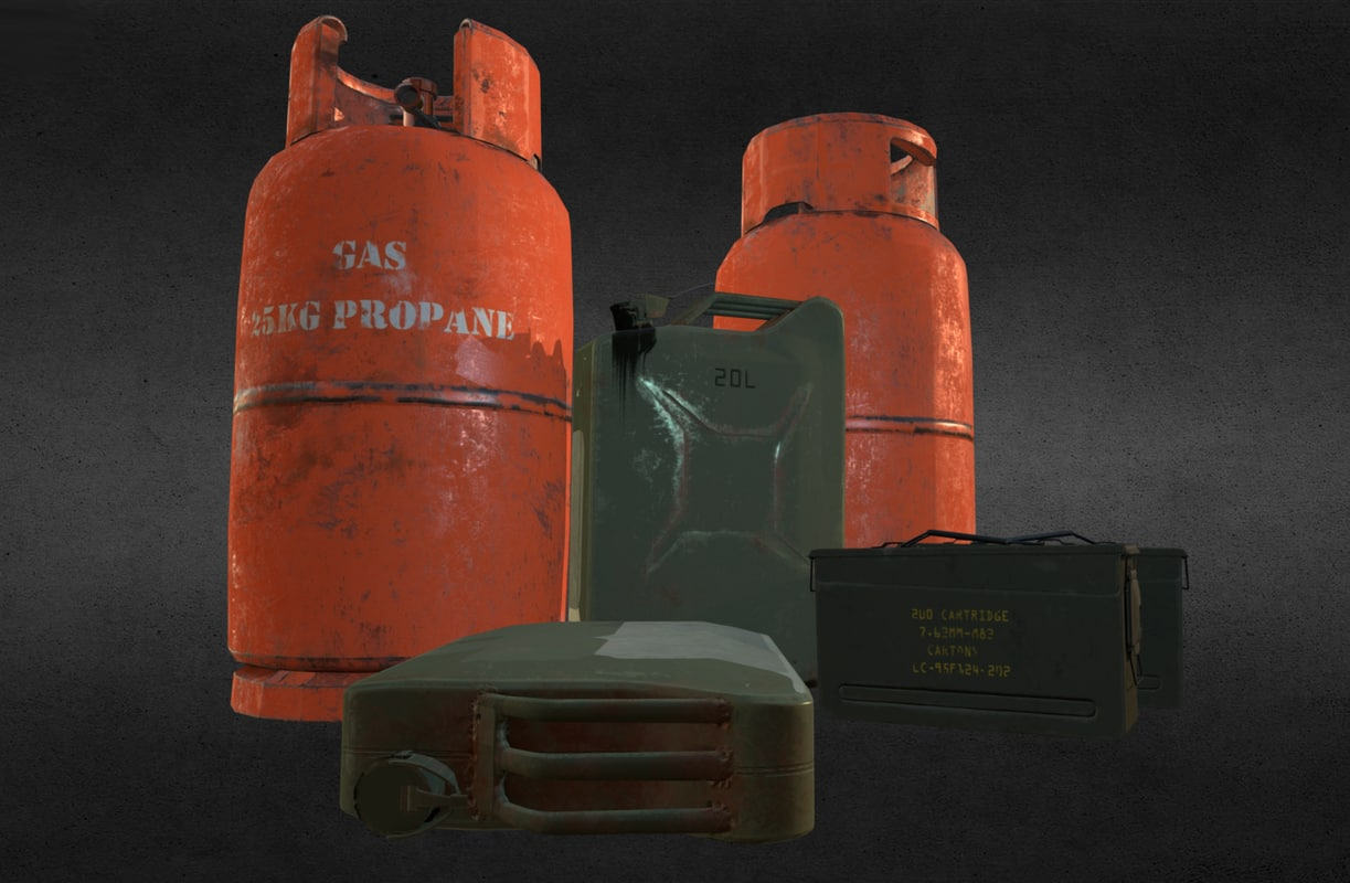 army assets 3d model