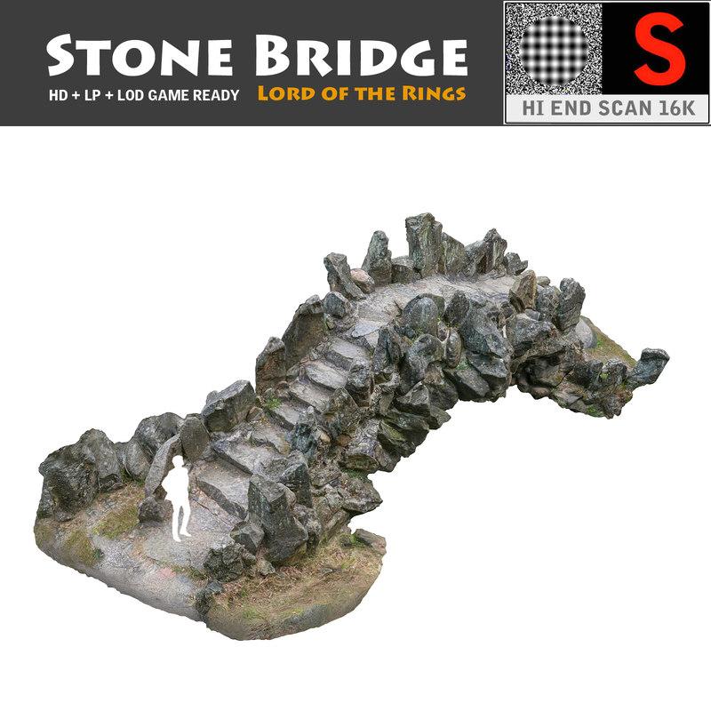3d model of stone bridge scan