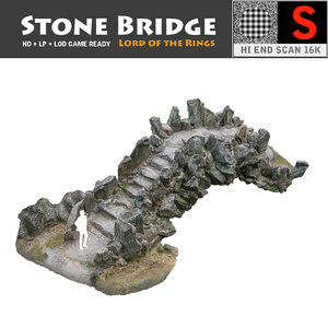3d model of stone bridge scan