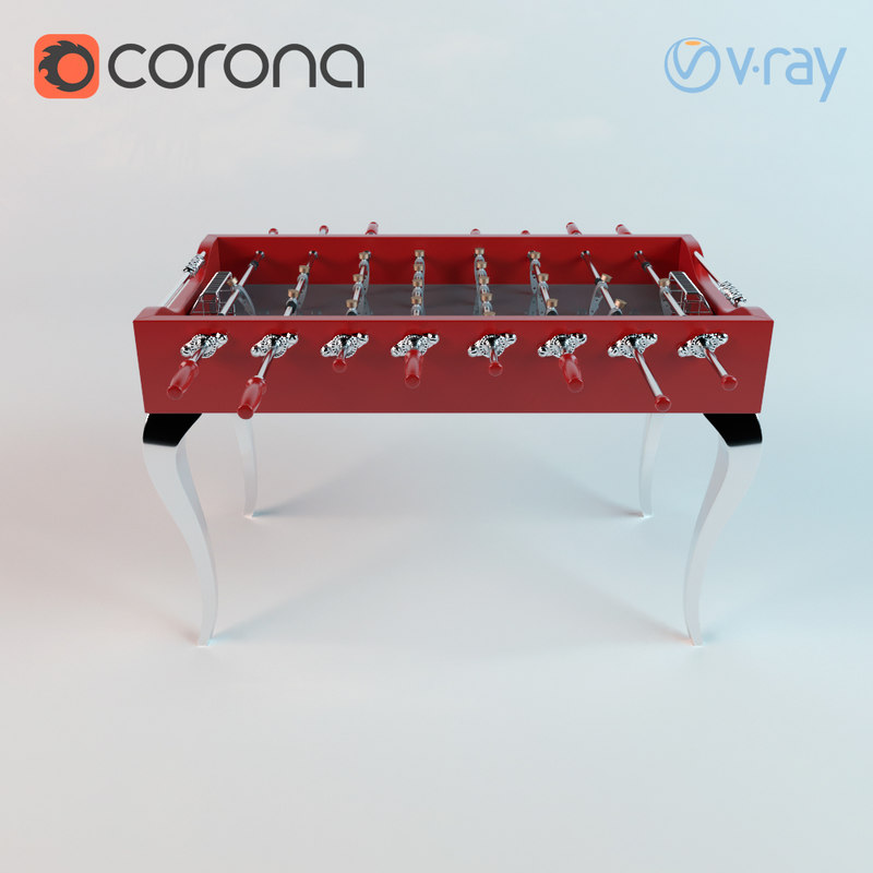classic table football 3d model