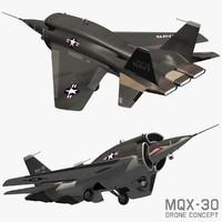 3d drone concept model