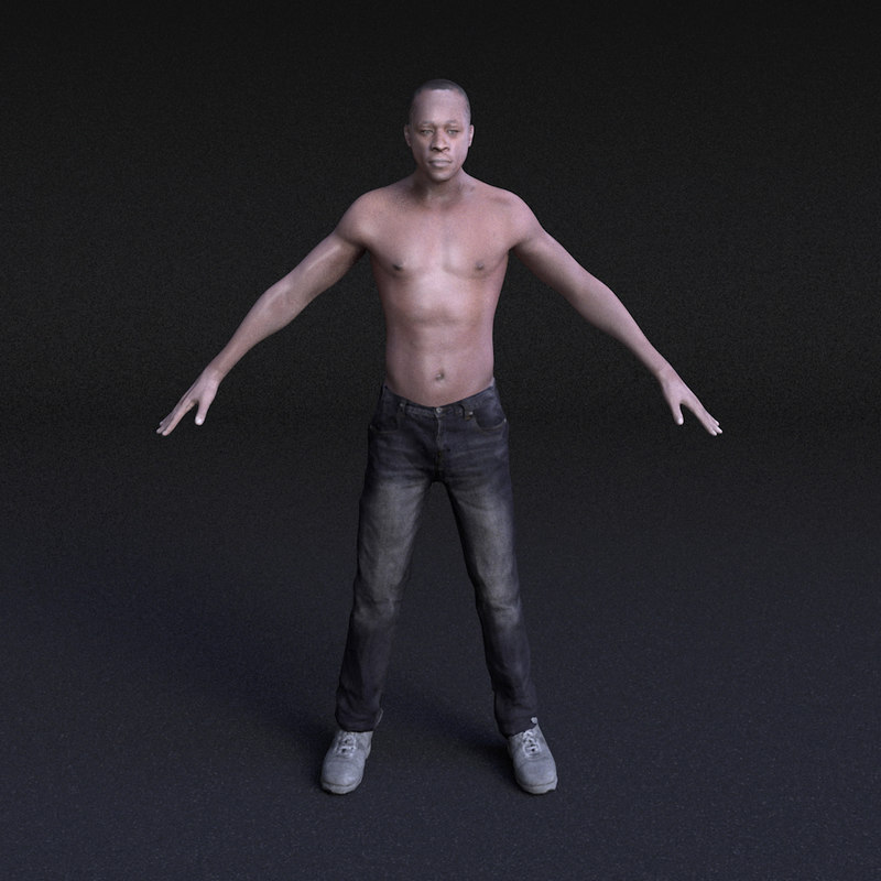 character male - rigged 3ds
