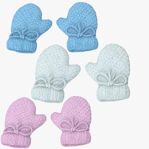 newborn mittens 2 3d model