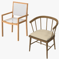 patio dinning chairs 3d model