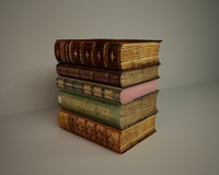 3d model of old book