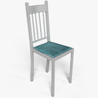 old chair wood 3d model