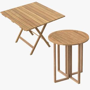 patio card tables 3d max
