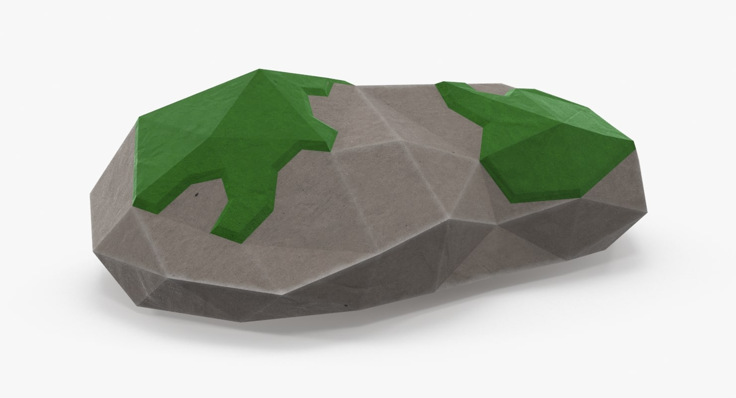 3d mossy rock model