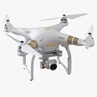 3d model dji phantom 3 professional