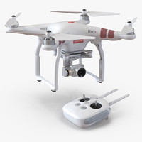 dji phantom 3 professional 3d model