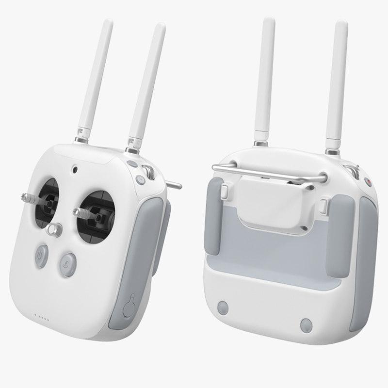 dji phantom radio controller 3d model
