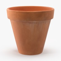 medium flower pot unpainted max