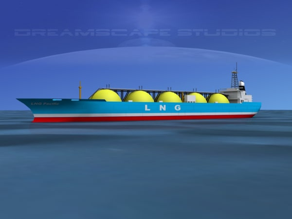 3d model lng carrier ship