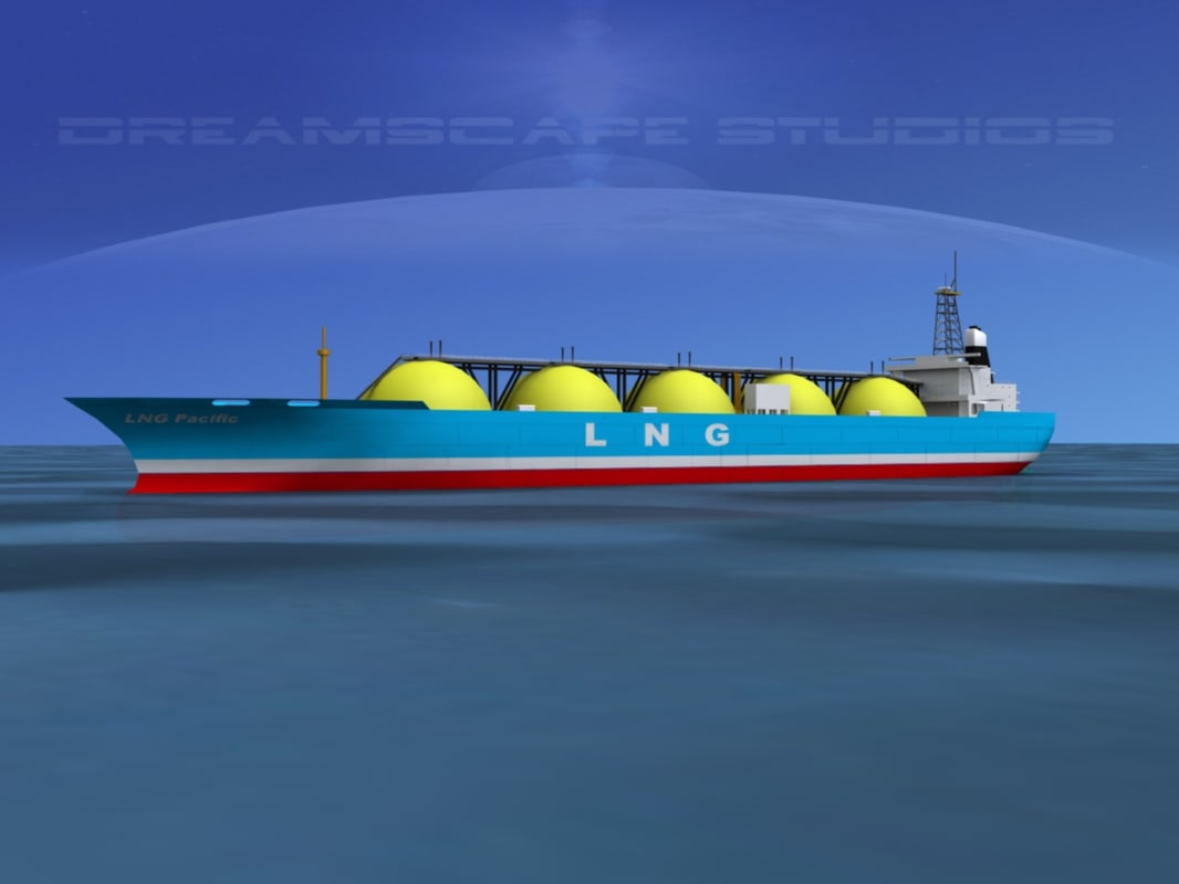 3d model lng carrier ship