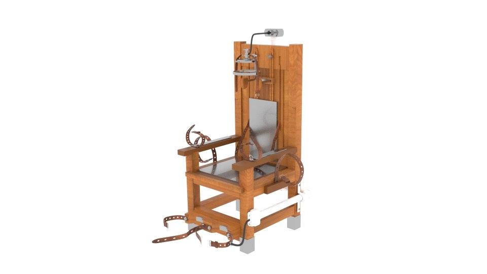electric chair 3d obj