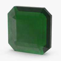square emerald 3d model