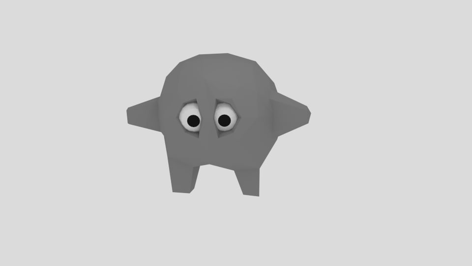 stone character 3d 3ds