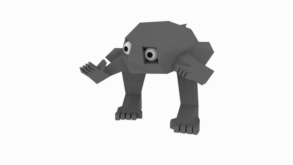 3d rock character model