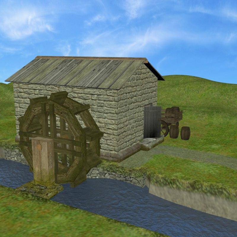 building millstone 3d model