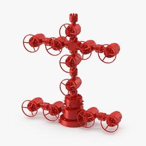 wellhead christmas tree 3d model