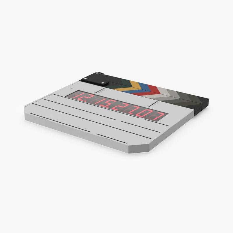 digital film slate 3d model