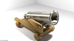cannon fort siege 3d model