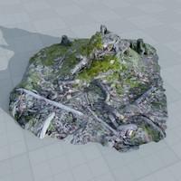 3d model r-scan tree stump 005