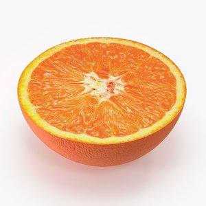 3d model tangerine cross section