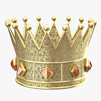 crown king gold 3d max