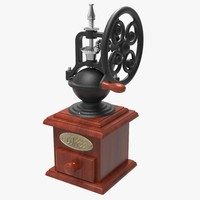 3d model of antique coffee grinder