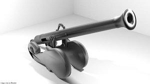 cannon lantaka 3d model