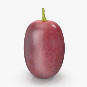 3d red grape 6