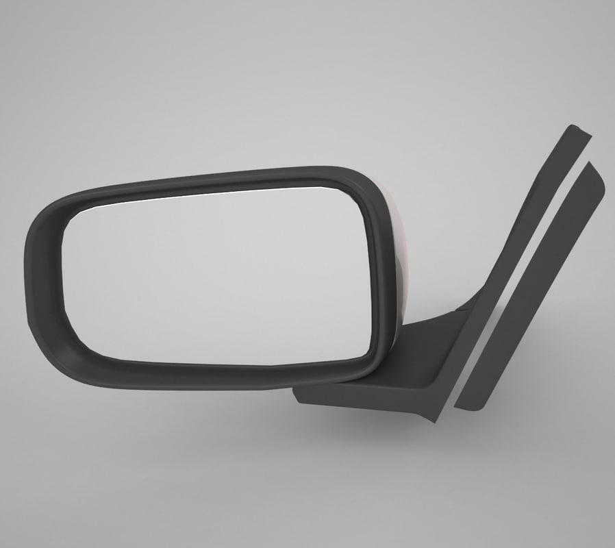 car mirrors 3d model