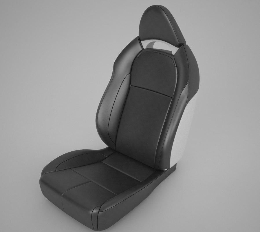 3d model car seats