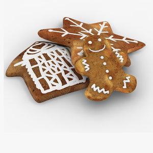 gingerbread ginger bread 3d model