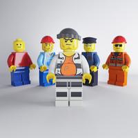 set lego characters 3d max