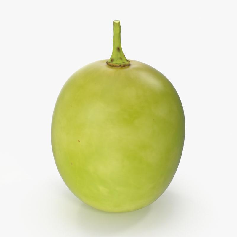 green grape 3d model