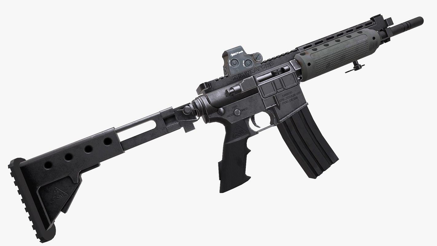 3d realistic lr-300 rifle