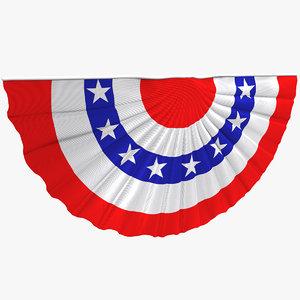 flag election decoration 3d model