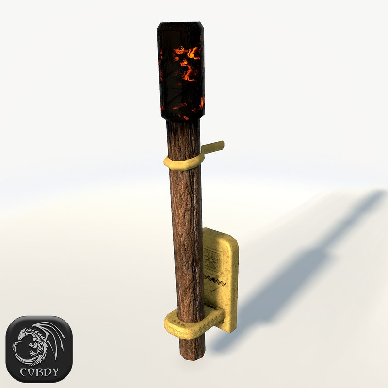 3d max wall torch