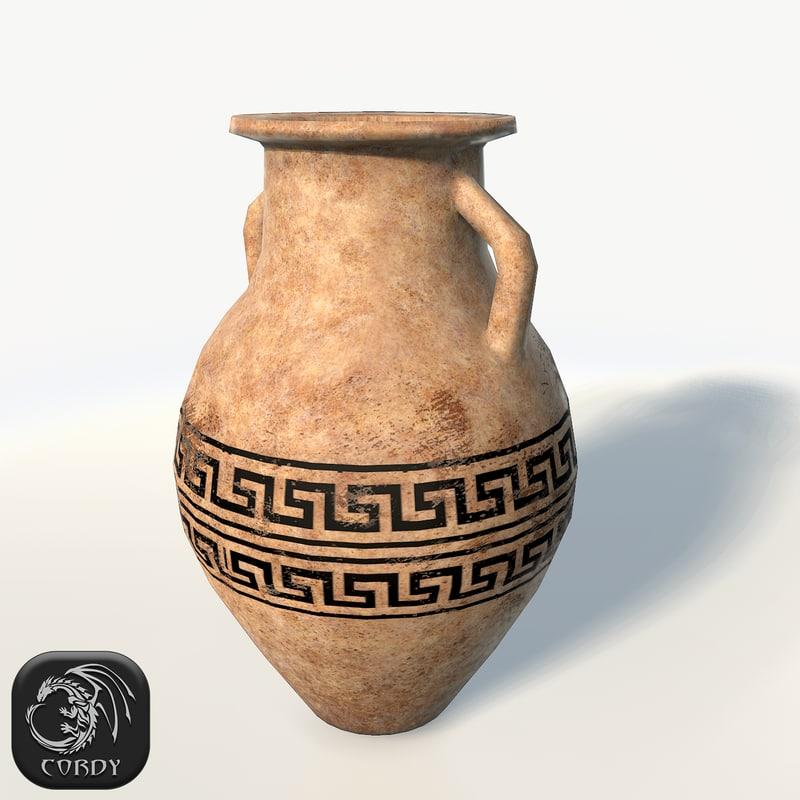 3d model realistic vase