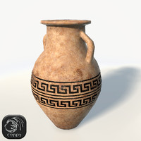 Ancient vase 2 low poly