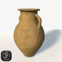 realistic vase 3d obj