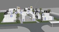 3d model city area