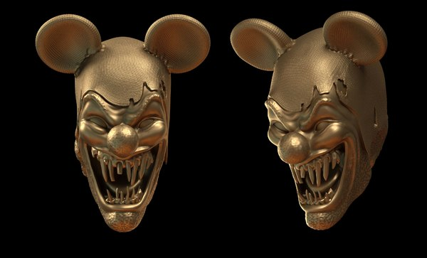 obj clown scary head