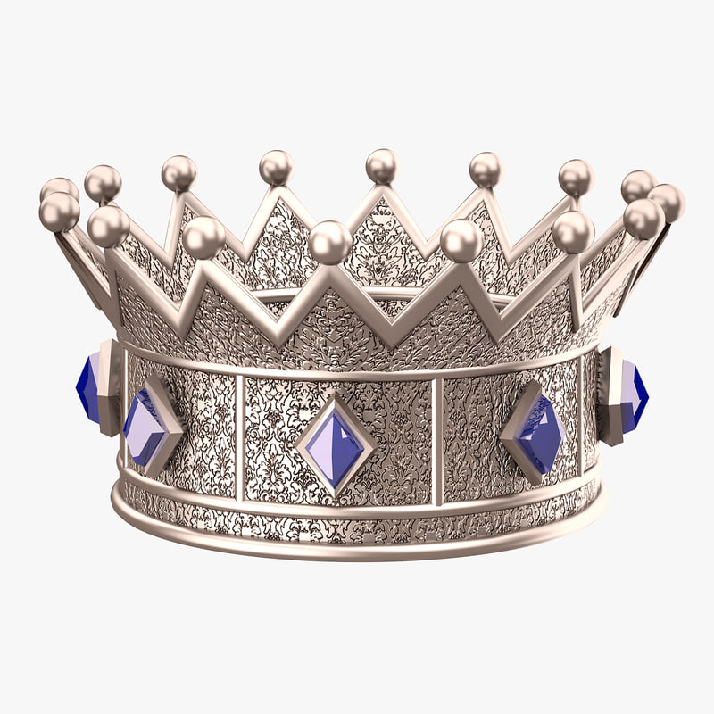 crown princess silver 3d model