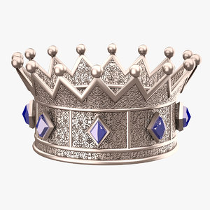 crown princess silver 3d model