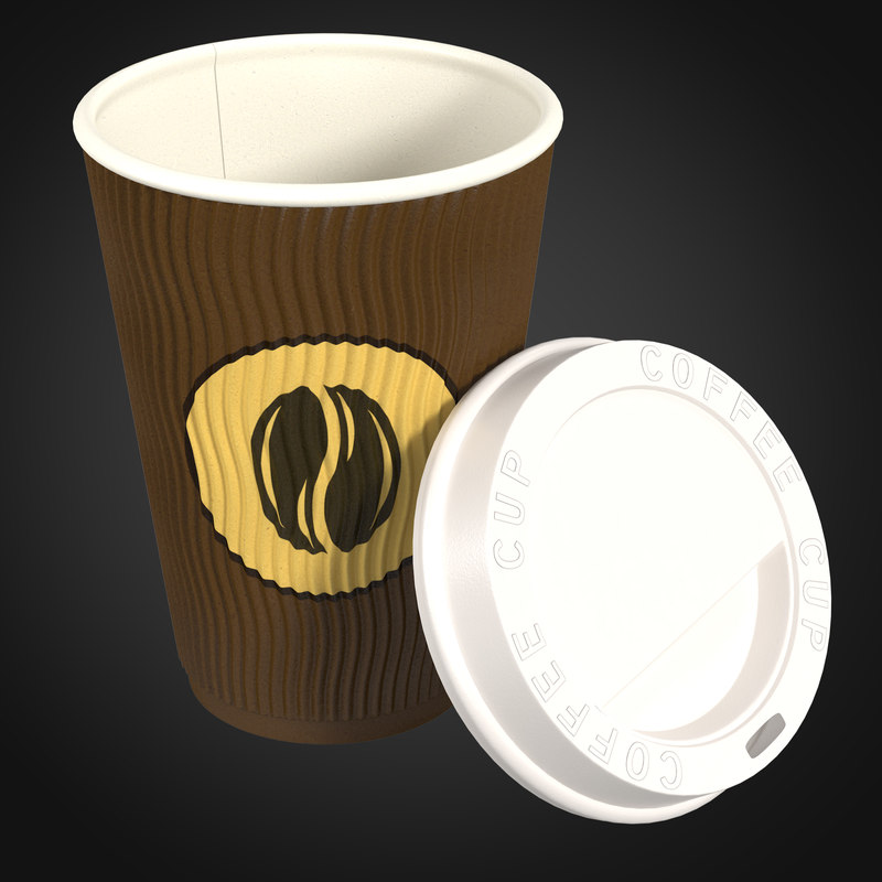 paper coffee cup 3d max