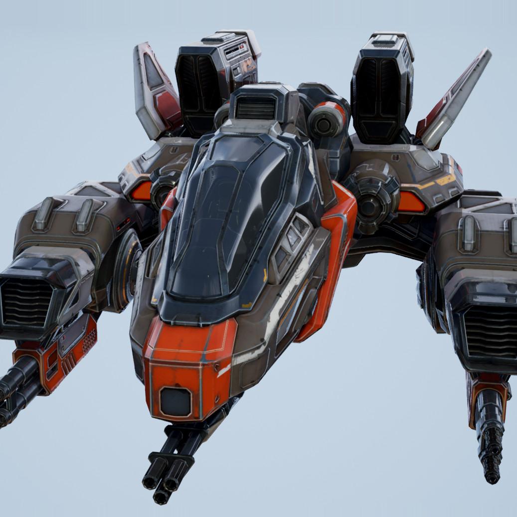 obj corvette ship - games