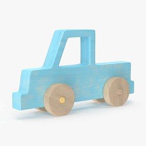3d baby wooden car